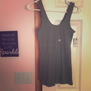 Olive green tank top with sparkles from Express